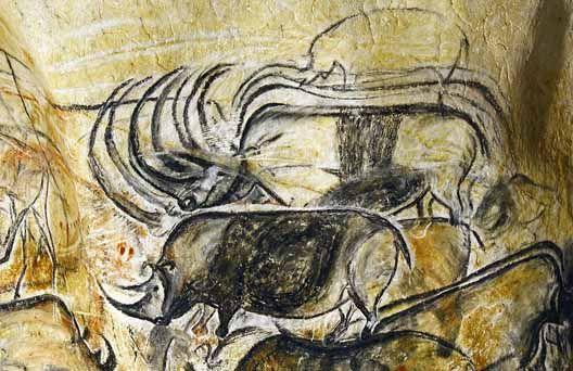 Rhinocéros dans la grotte de la Combe d'Arc (grotte Chauvet)
