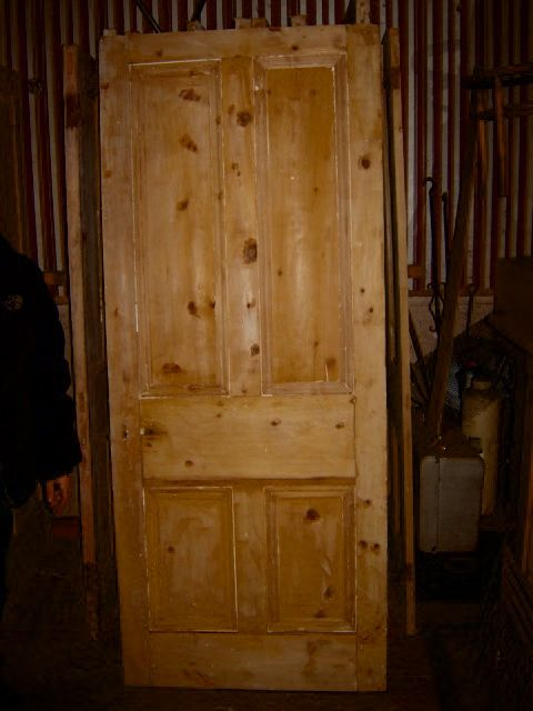 "Internal Victorian four panel door , 80"" high,33"" wide, 2"" thick,"