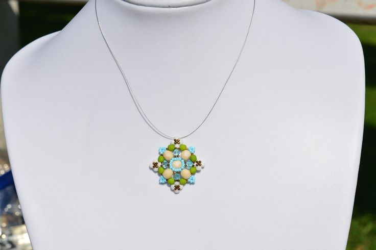 LUXURY GREEN-SPRING STYLE PENDANT from luxurybeadjewelry.co.uk