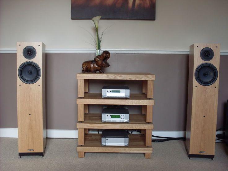 Cyrus Audio Hi-Fi on a Podium Rack with Spendor A6 Speakers.