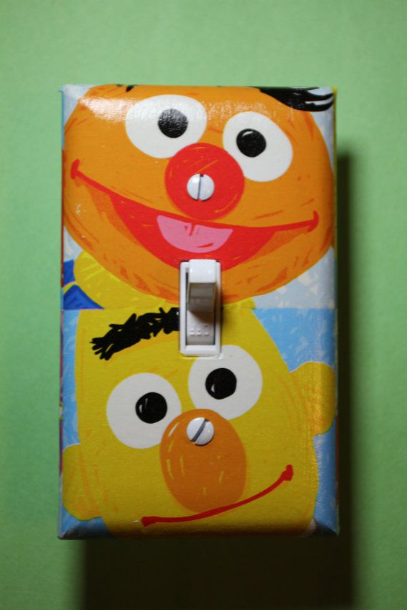 Sesame Street Ernie and Bert Light Switch Plate by ComicRecycled, $7.99