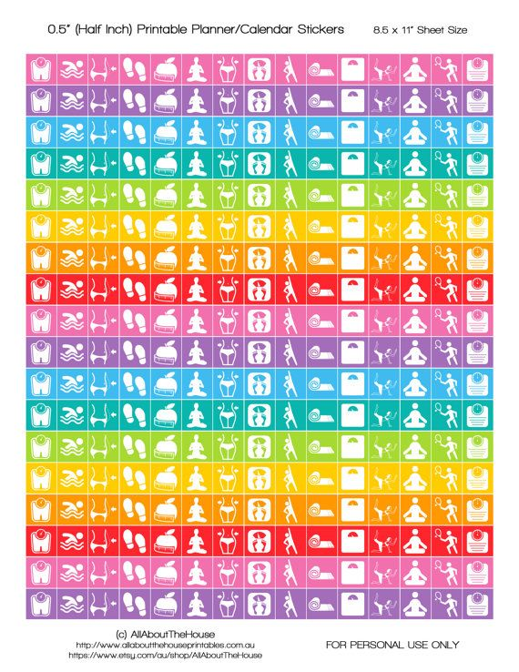 Fitness Planner Stickers Printable Calender Stickers yoga swimming weight lossRainbow exercise run lifestyle training routine HIS070 https://www.etsy.com/au/listing/254303092/fitness-planner-stickers-printable?ref=shop_home_active_19