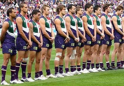 Australian Rules Football -The Fremantle Dockers, my team!