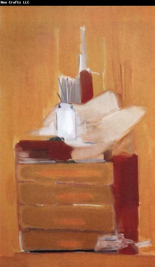 Nicolas de Stael The Orange Background of Workroom