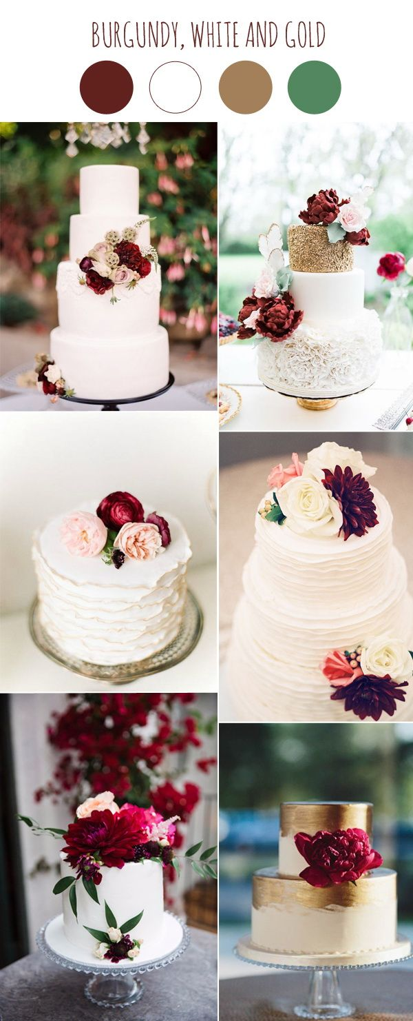 2017 Wedding Color Scheme Trends Burgundy and White