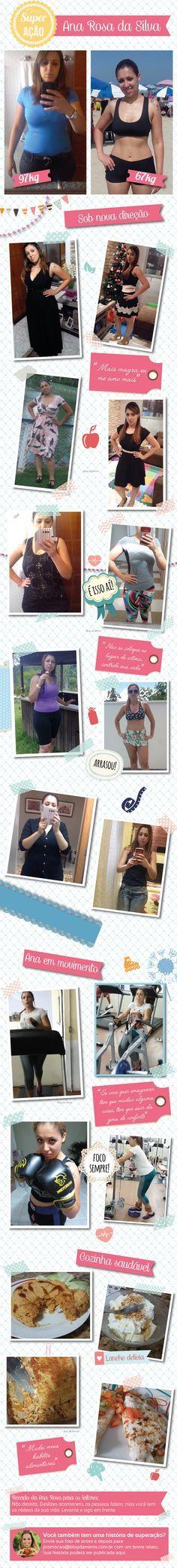 Superação Ana Rosa: mãe muda a rotina e conquista a boa forma - Blog da Mimis - Ana Rosa venceu a obesidade eliminando 30Kg.
