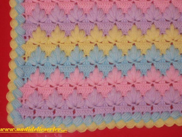 Irish crochet &: Детский плед,