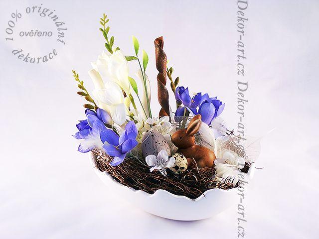 Modro bílá kombinace - jarní i #velikonoční #doplněk do bytu.