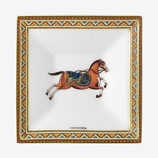 Cheval d'Orient square plate - front