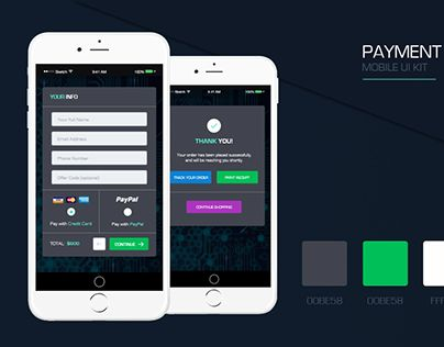 """Check out new work on my @Behance portfolio: """"Mobile UI KIT 