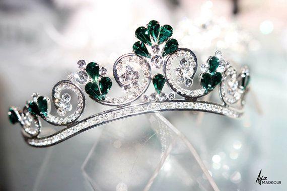 Unique handmade wedding tiara princess tiara bridal tiara