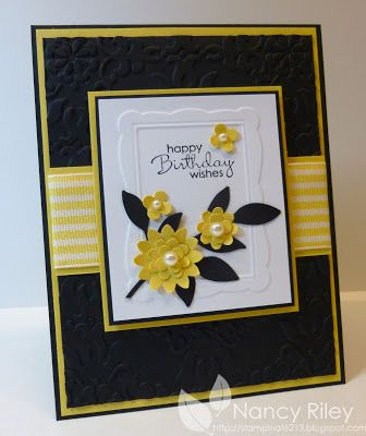 i STAMP by Nancy Riley Daffodil delight and boho blossoms punch from SU, also framelit frame die