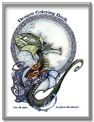 Dragon Coloring Book - 20 fantasy dragon images to color, by artist Eileen Steinhauer.