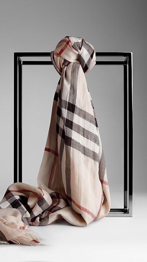 Check Wool Silk Scarf | Burberry. I need to break down and get this! I just got a smoked version but now I'm broke!