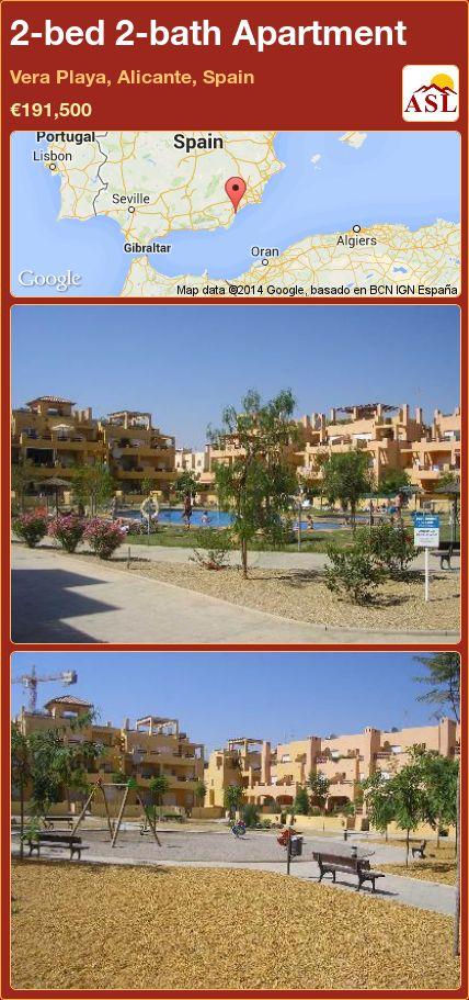 2-bed 2-bath Apartment in Vera Playa, Alicante, Spain ►€191,500 #PropertyForSaleInSpain