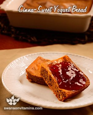 Delicious and easy bread options are possible! Cinna-Sweet Yogurt Bread will satisfy your sweet tooth without feeding your guilt!