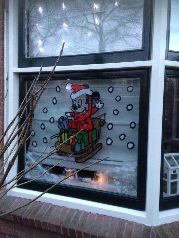 Raamschildering kerst