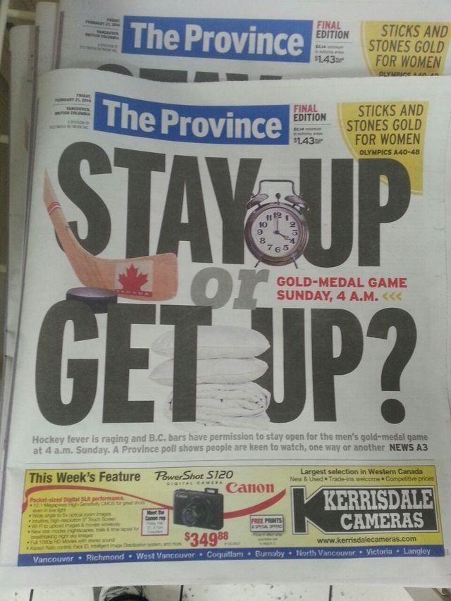 Vancouver's big debate for Sunday.