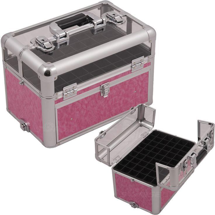 Pink Croc Nail Clear Case - E3310 - salonhive.com