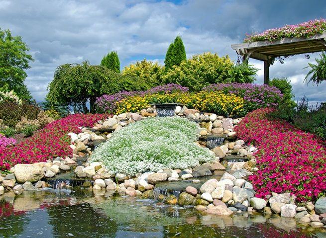Oczko Wodne W Ogrodzie Outdoor Golf Courses Water