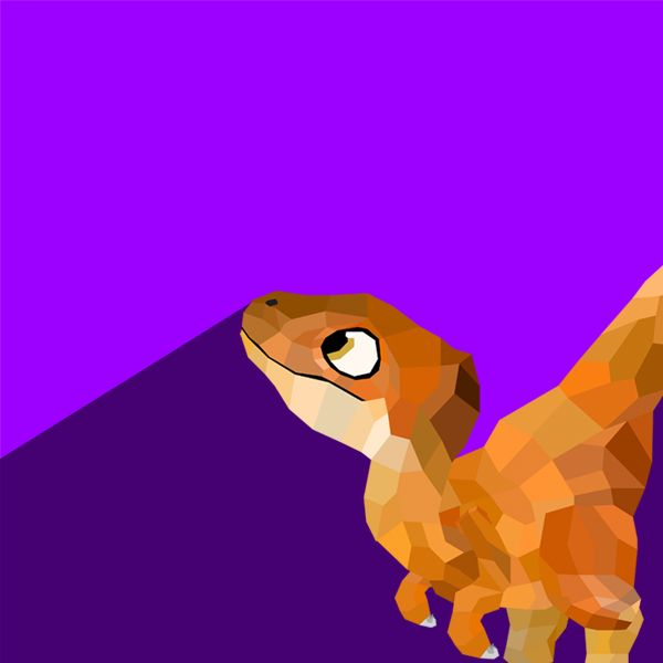So, uncle pratt... Can we hunt the evil dinos now? #illustration #design #facets #polyart #flatdesign #jurassicworld #velociraptor #dinosaur #violet #illustrator #cubs
