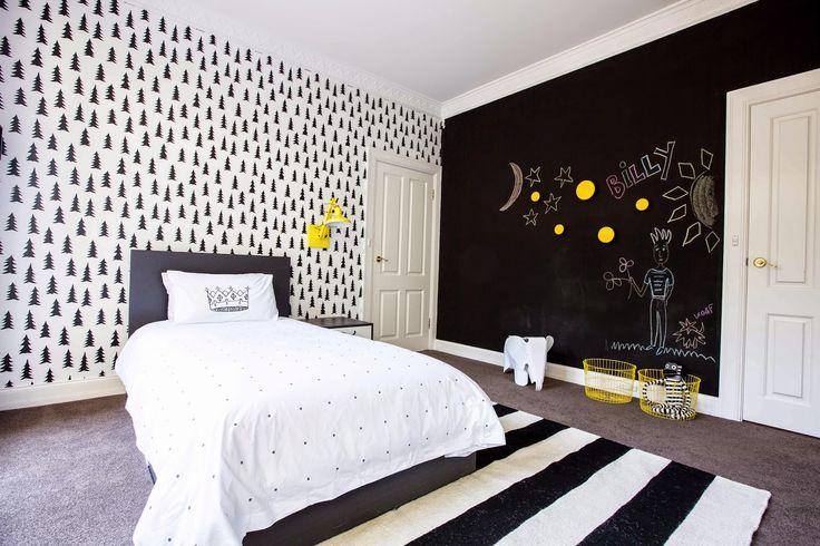 Love Black nordic trees wallpaper