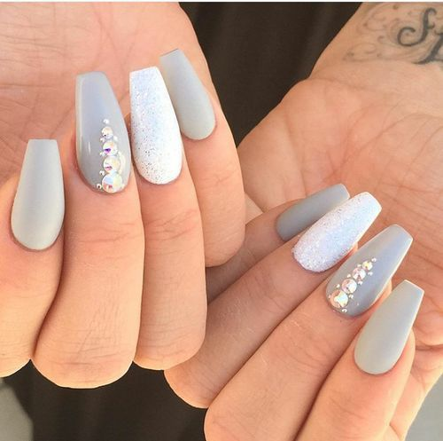 Best 25+ Gray nails ideas on Pinterest | Neutral nails, Acrylic nail designs  and Fall gel nails - Best 25+ Gray Nails Ideas On Pinterest Neutral Nails, Acrylic
