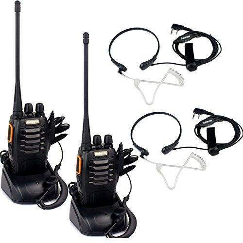 Retevis R888s plus Rechargeable Walkie Talkie UHF 400-470MHz 3W FM CTCSS/DCS 16CH with Earpiece VOX Flashlight (2 Pack) and 2 Pin Throat Mic (2 Pack) >>> Additional info @ http://www.buyoutdoorgadgets.com/retevis-r888s-plus-rechargeable-walkie-talkie-uhf-400-470mhz-3w-fm-ctcssdcs-16ch-with-earpiece-vox-flashlight-2-pack-and-2-pin-throat-mic-2-pack/?wx=270616071645