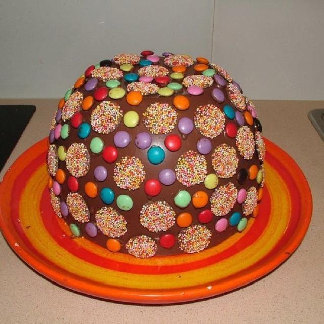 Chocolate Dome Pinata Cake