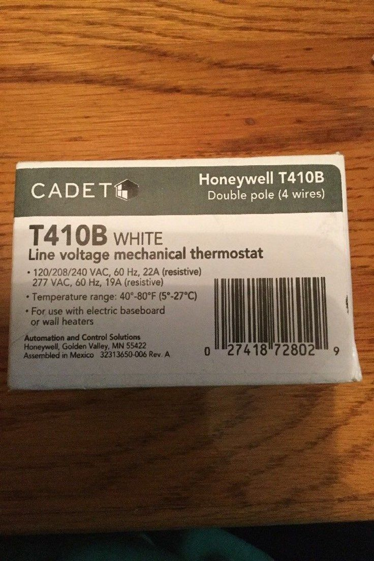 15 00 | Honeywell Cadet T410B Thermostat For Electric Baseboard Or