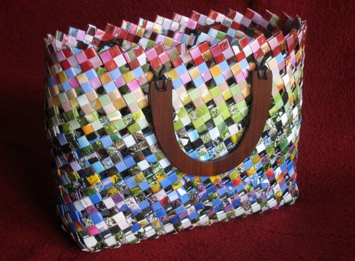 Woven Paper Basket Diy Pinterest And Crafts