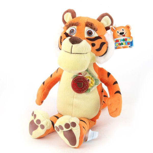 Masha and the Bear cartoon SOFT TOY Tiger  27 cm  2 songs Masha doll #MultiPulti