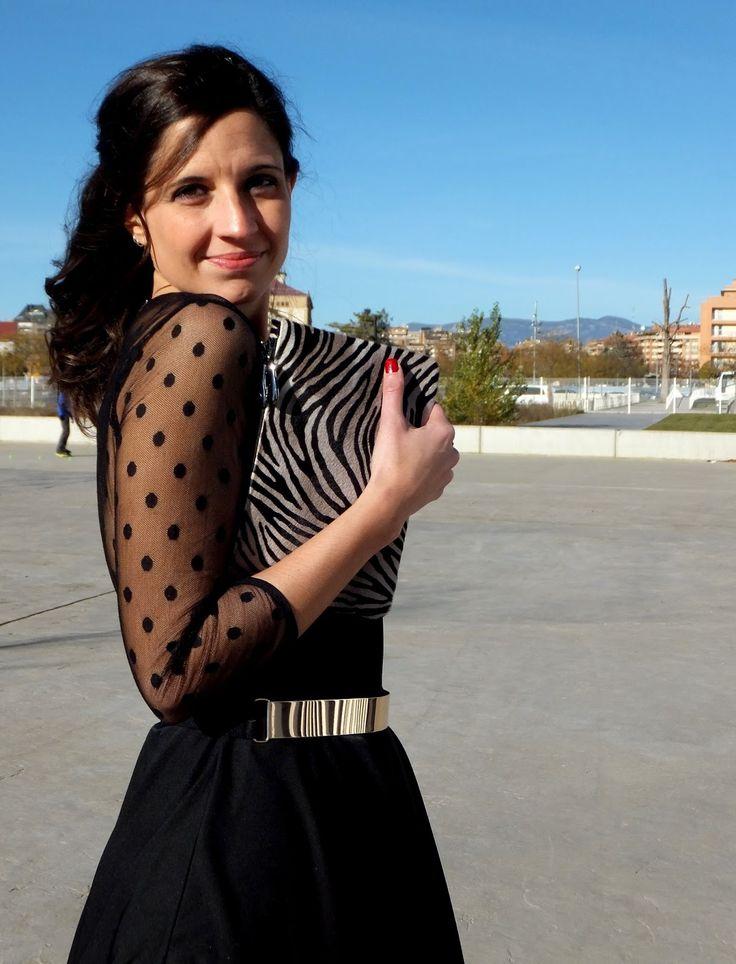 In Front Row Style: Look con vestido negro de Minueto #kissmylook
