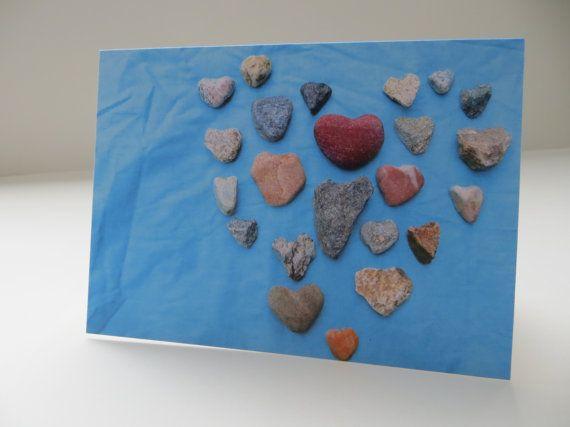 Big Heart of Heart Rocks Photograph Turquoise by LoveRockResidue, $3.50