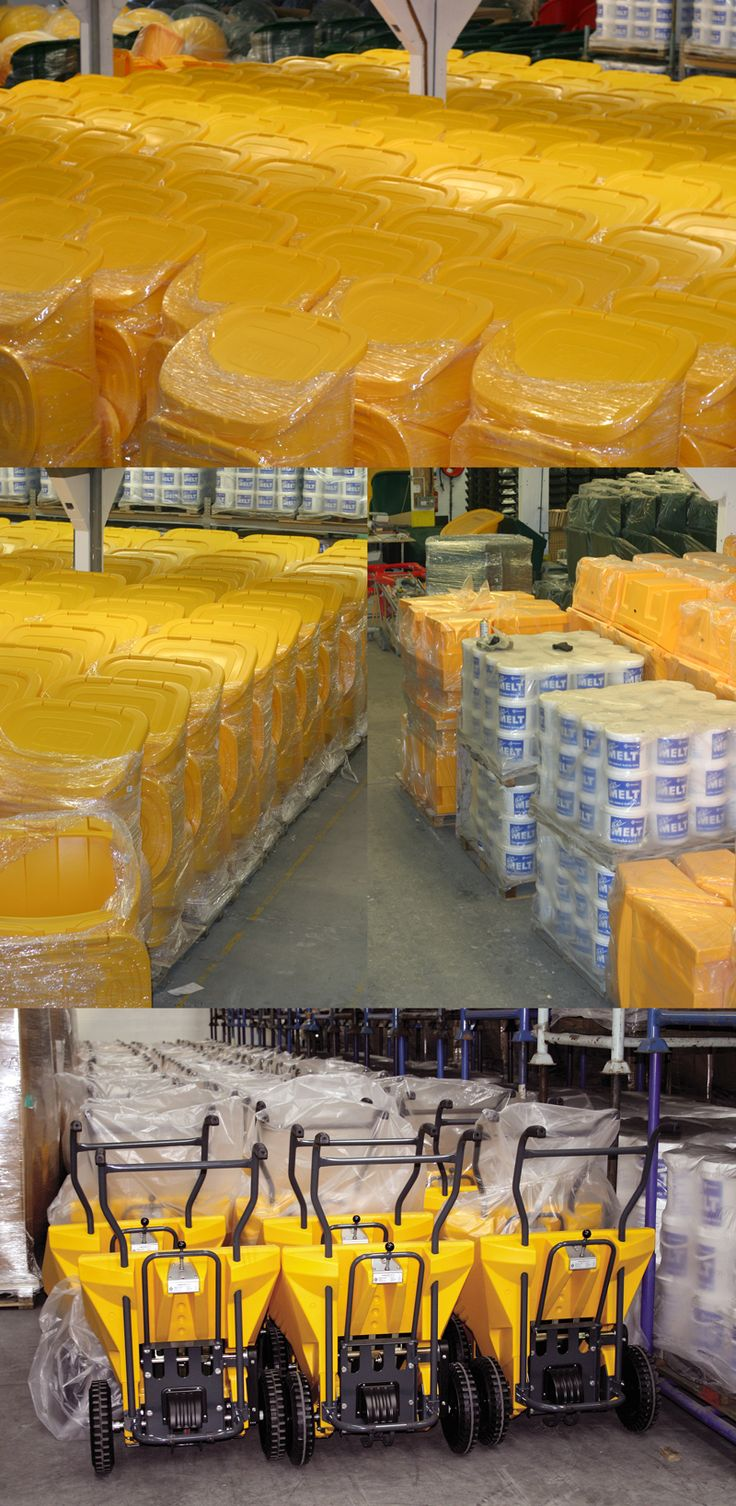 Are you ready for winter? Glasdon grit bins and salt spreaders are in stock and ready for dispatch.