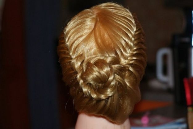 Великолепная корзинка из хвоста ::: onelady.ru ::: #hair #hairs #hairstyle #hairstyles