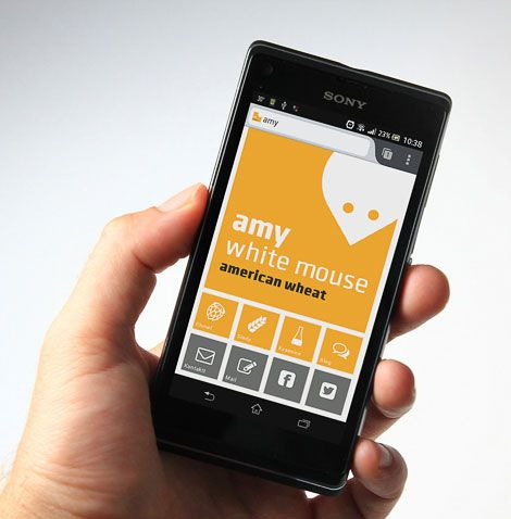 Amy White Mouse Homebrew App Designed by Martin Fek