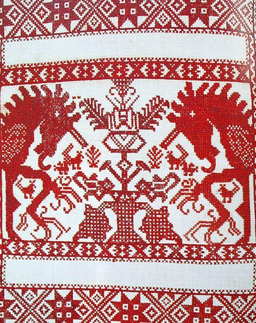 орнамент вышивки свадебных полотенец белгородской области схемы