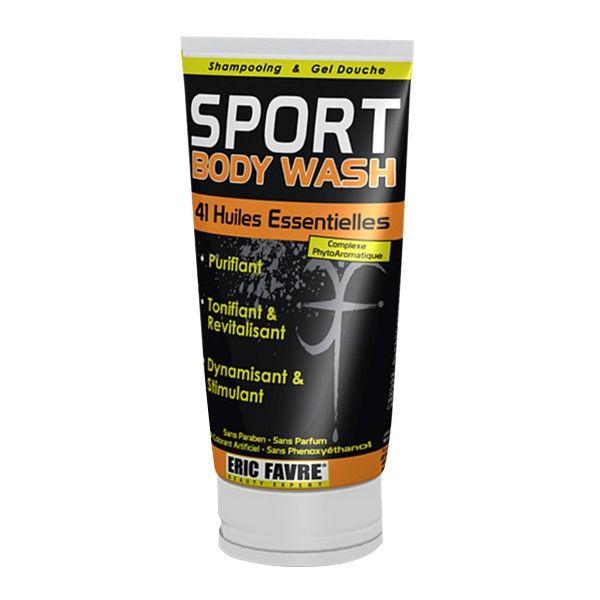 Ce gel douche que vous pouvez utiliser en shampooing aura divers effet sur votre corps : il est purifiant, tonifiant, revitalisant, dynamisant et stimulant. Il sera idéal après le sport éliminant toute trace de transpiration. #santediscount #sport #ericfavre #body #huilesessentielles #men #homme