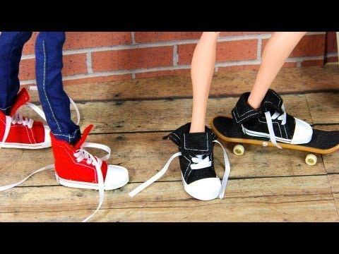 <3 this site! Great & creative how-tos for Barbie & 18in. How to Make Doll Shoes : Sneakers
