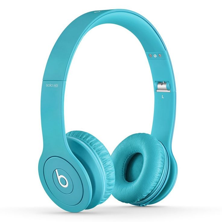 Drenched in Light Blue - Beats Headphones from Dr. Dre - Beats Studio sounds quality.  High performance sound #headphones