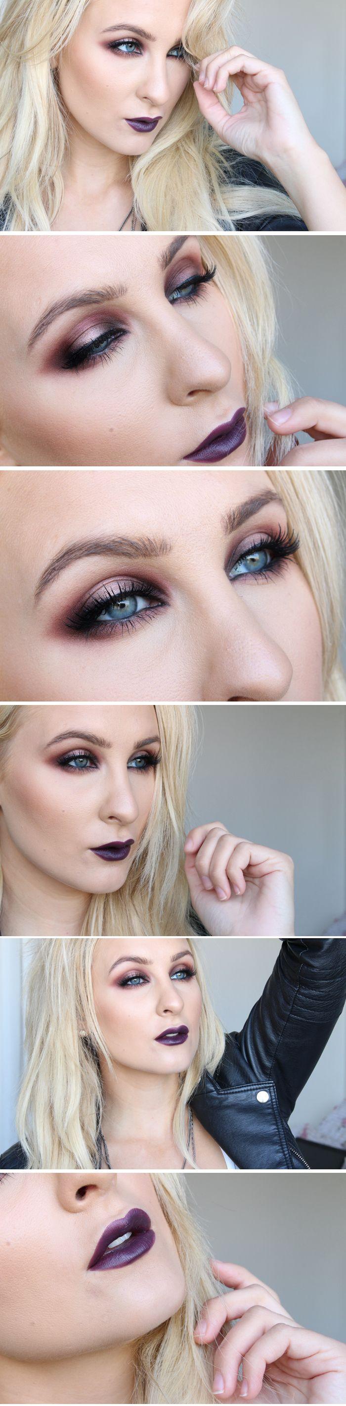 Här kommer en tyngre makeup med höstiga färger. Hellt ska man ju välja antingen läppar ELLER ögon. Men idag blev det bägge delar! Har använt: Concealer: make up store, cover all – blue...