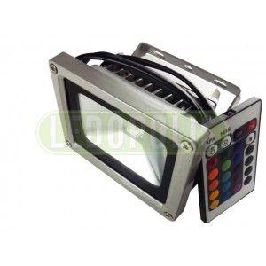 10 Watt Αδιάβροχος LED Προβολέας RGB IP65 240V με χειριστήριο - Προβολείς LED