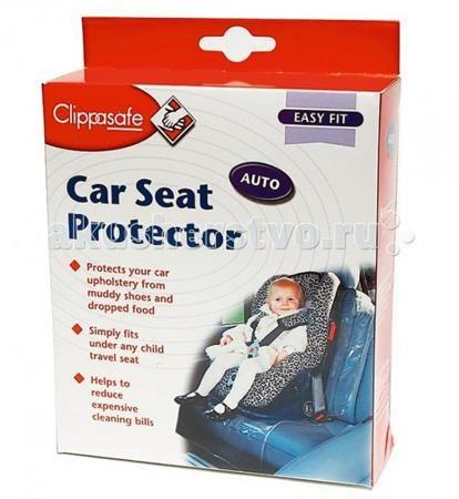 Clippasafe Чехол-накладка на сидение автомобиля  — 490р. -------  Грязные ботинки малыша, еда и напитки могут легко испачкать сидения автомобиля.   Иногда пятна бывают настолько въедливыми, что не помогает даже дорогая химчистка салона. Обезопасьте себя от лишних трат и расстройств.   Благодаря данной защитной пленке Вы сохраните сидение в автомобиле чистым и убережете от появления царапин.   Материал: высококачественная пленка ПВХ.