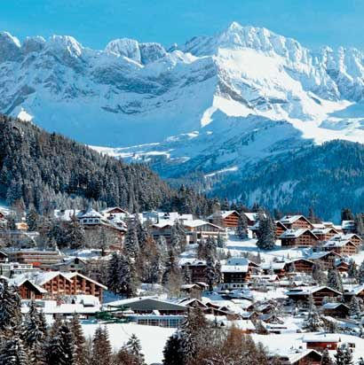 Villars-sur-Ollon, Switzerland - 3 months of holidays, each year, during 7 years ..... lot of chocolate eaten ! ;-)