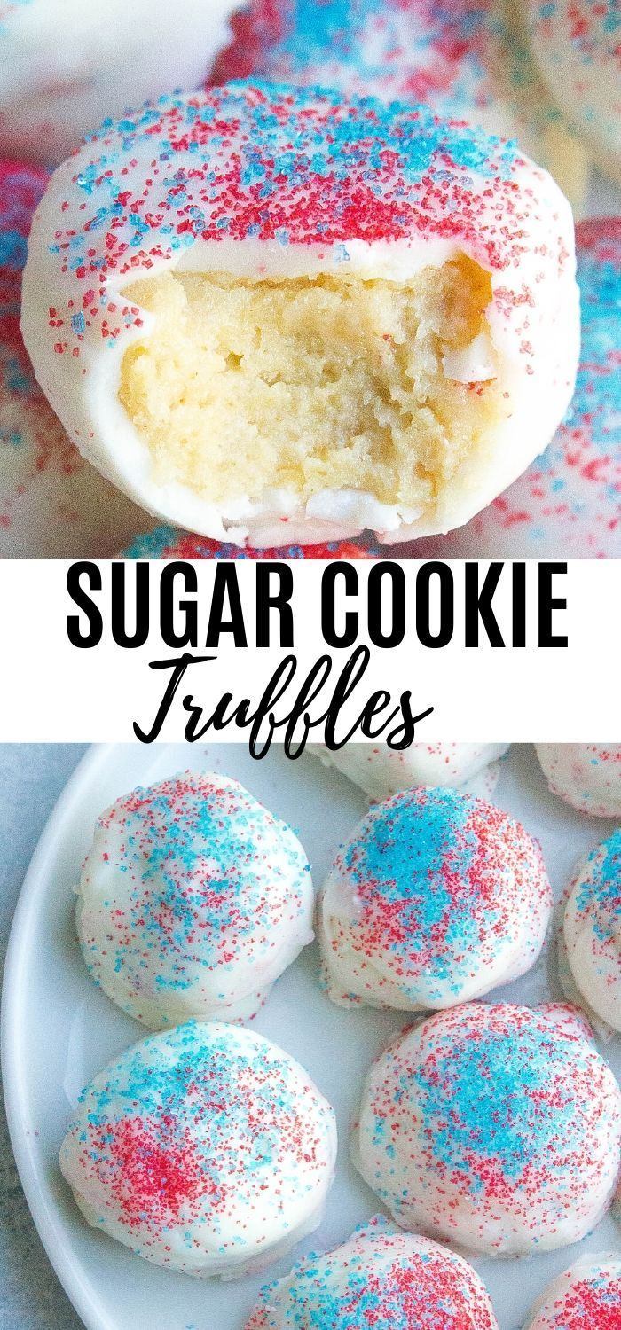 These Sugar Cookie Truffles are made with Golden Oreo cookies, cream cheese, and drenched in white chocolate and coated…
