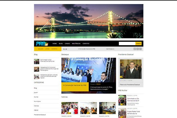 Portal de noticias desenvolvido para divulgar ações sociais, leis, projetos e notícias relacionadas ao Partido Republicano Brasileiro (PRB). Ele possui painel de gerenciamento de conteúdo e implementação de SEO (otimização de site para mecanismo de busca).