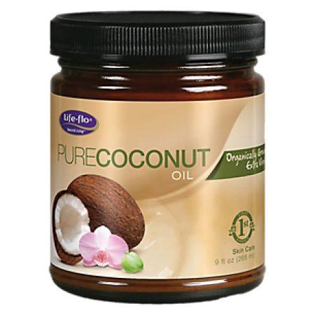 Life-Flo Health Organic Pure Coconut Oil Skin Care, 9 Oz, Multicolor