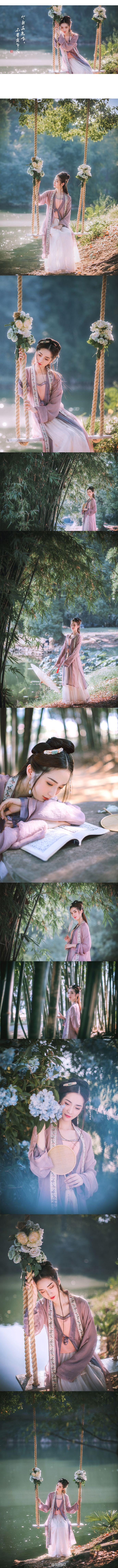 出镜:@丨丶哚灬啦 妆造:@Yumi嘟嘟嘟 traditional Chinese clothing hanfu lake