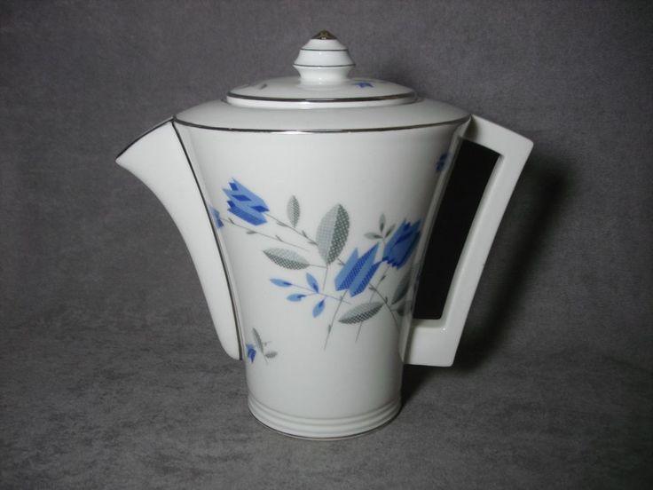 Verseuse Art déco moderniste porcelaine Limoges TLB coffee pot french vintage